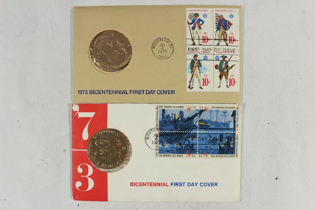 1973 & 1975 US MINT BICENTENNIAL 1ST DAY COVERS