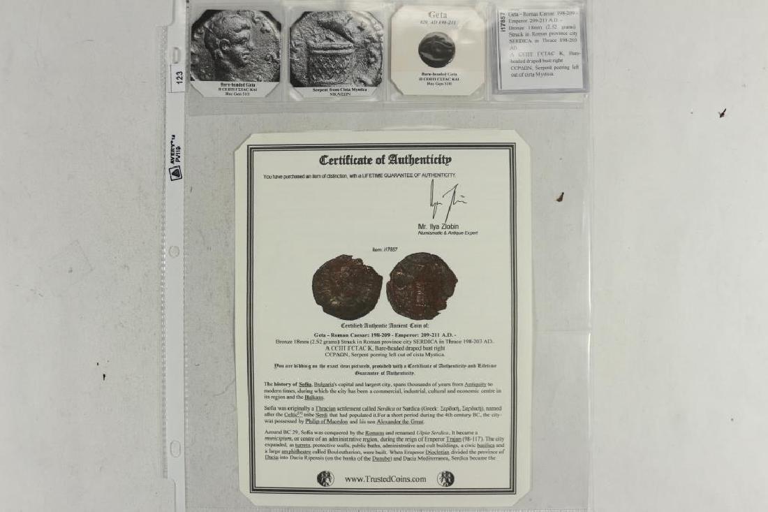 198-211 A.D. GETA ANCIENT COIN