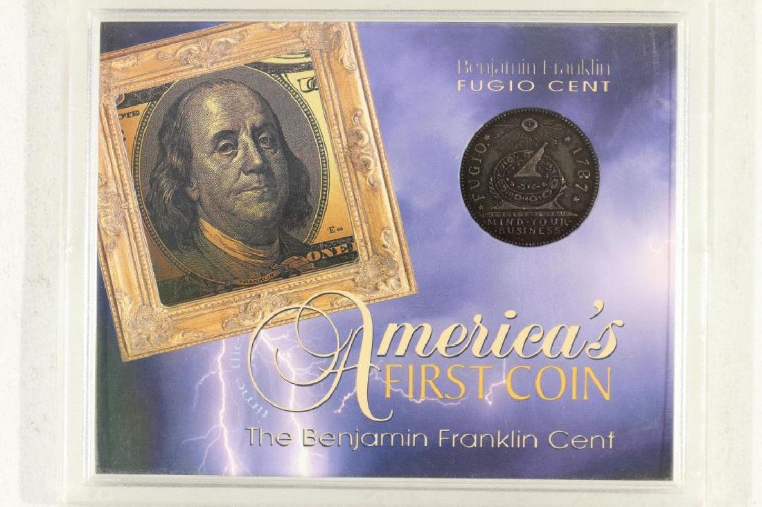 AMERICAS 1ST COIN THE BENJAMIN FRANKLIN CENT