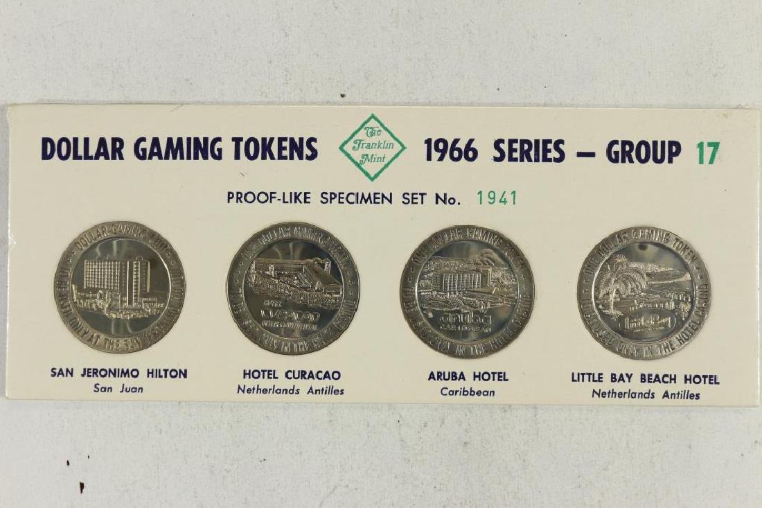 4-$1 GAMING TOKENS 1966 SERIES GROUP 17