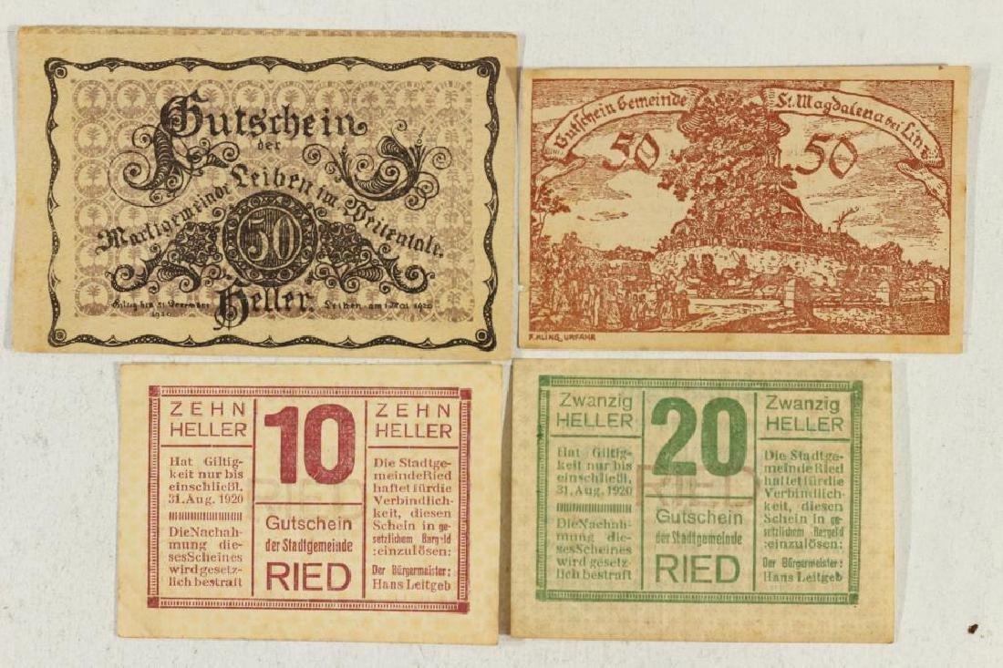 AUSTRIAN 1920-10 HELLER, 1920-20 HELLER & 2-1920-