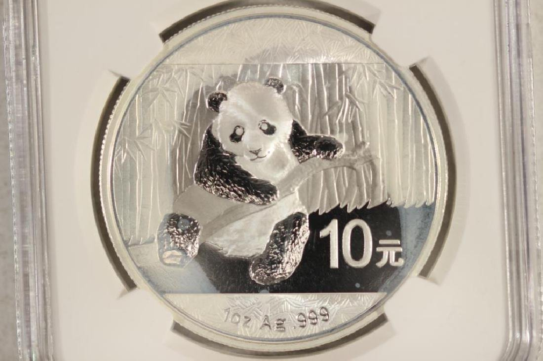 2014 CHINA SILVER 10 YUAN PANDA NGC BRILLIANT UNC