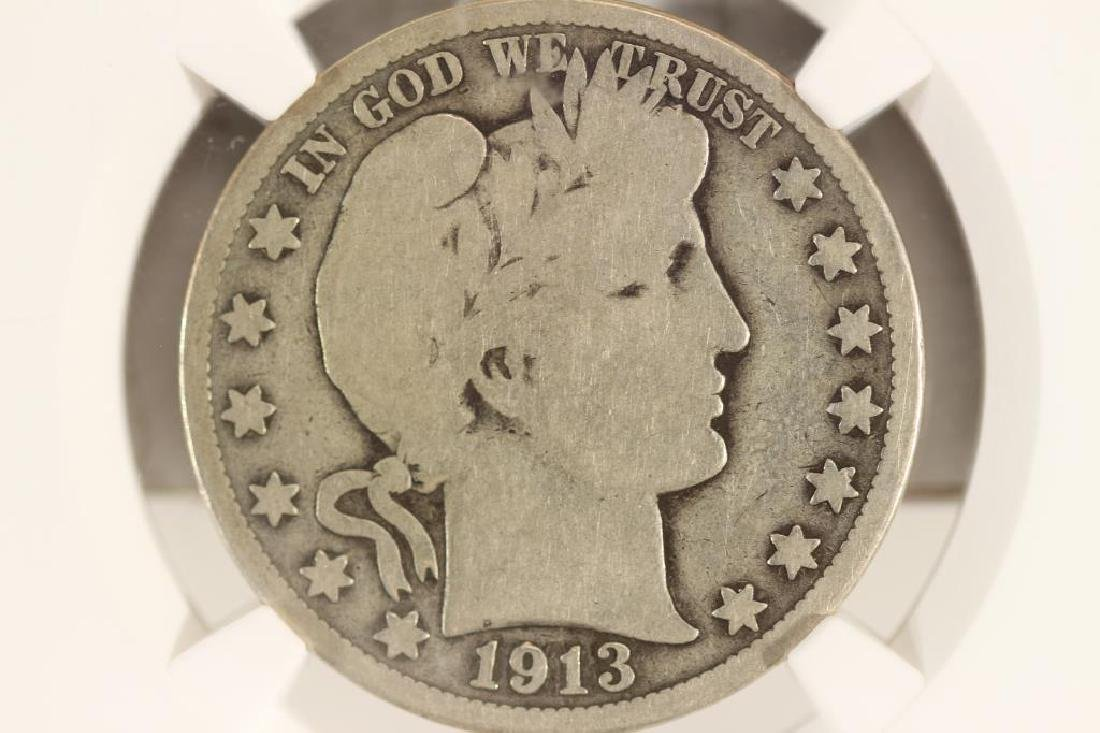 1913 BARBER HALF DOLLAR KEY DATE NGC G6