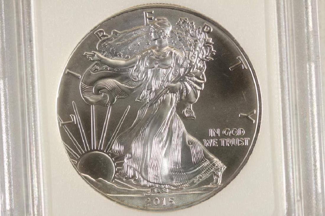 2015 AMERICAN SILVER EAGLE BRILLIANT UNC