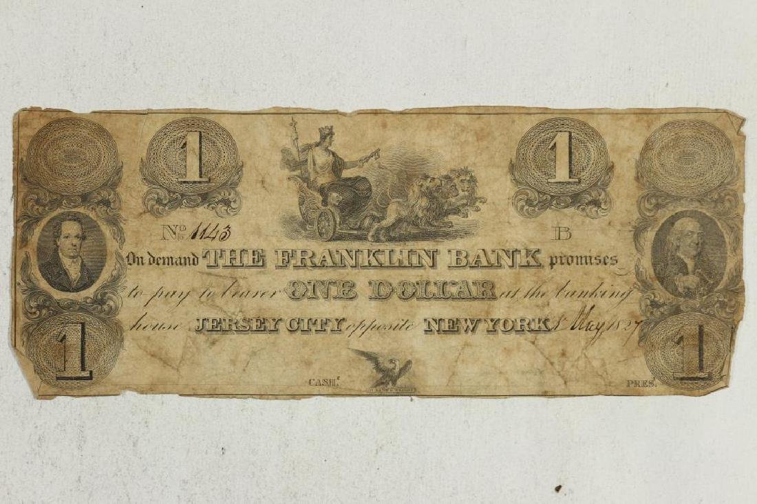 1827 $1 FRANKLIN BANK OF JERSEY CITY/NEW YORK