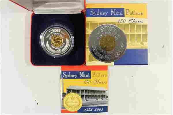 2003 AUSTRALIA MINT PATTERN $10 LARGE COIN