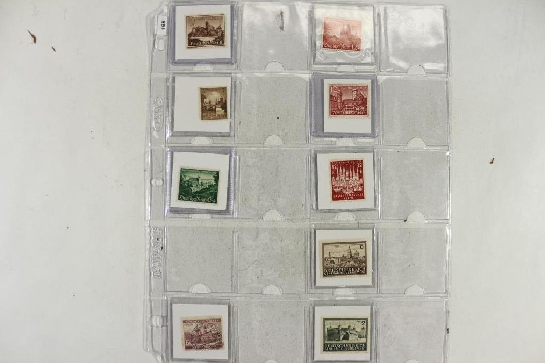 10-ASSORTED WWII GERMAN POSTAGE STAMPS