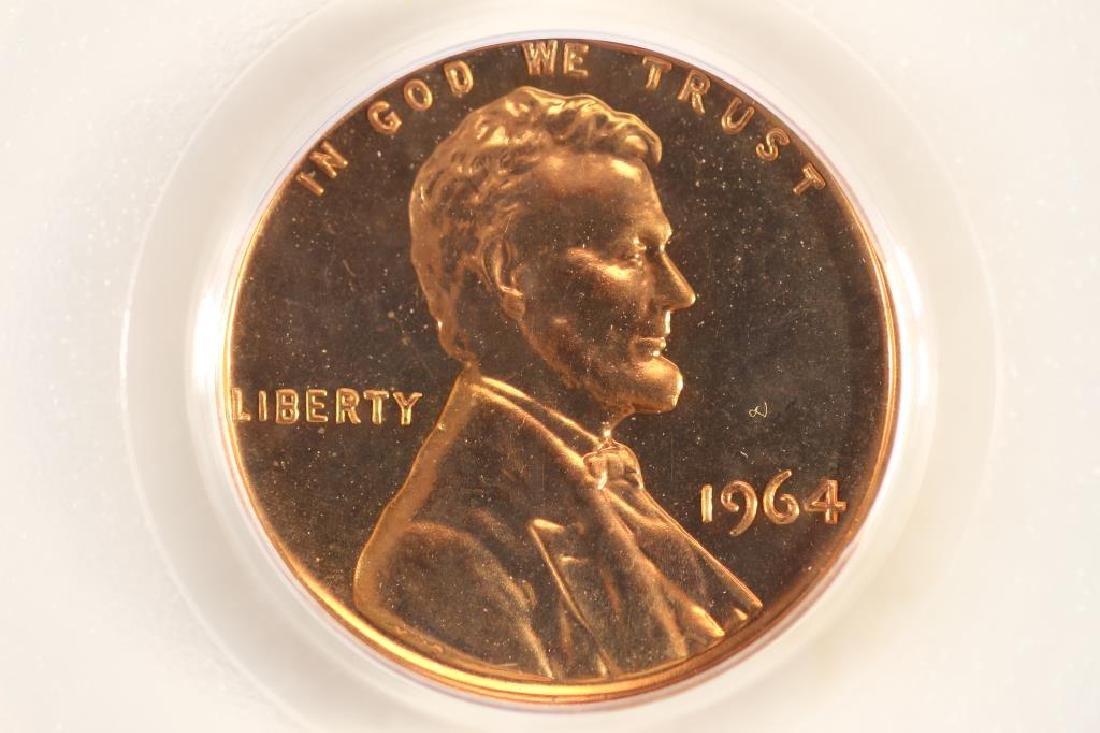 1964 LINCOLN CENT PCGS PR64RD