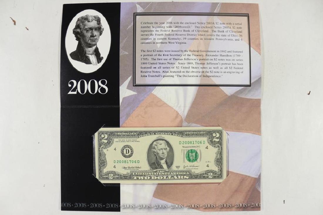 2008 CLEVELAND $2 SINGLE NOTE CRISP UNC