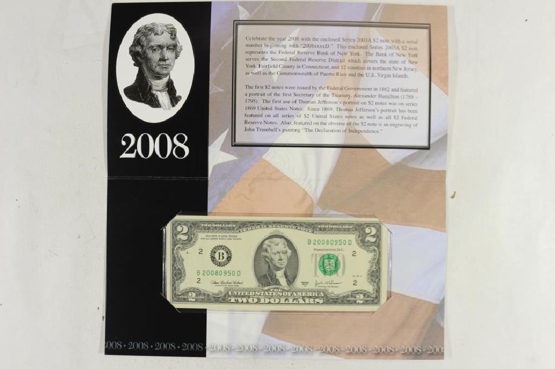 2008 NEW YORK $2 SINGLE NOTE CRISP UNC