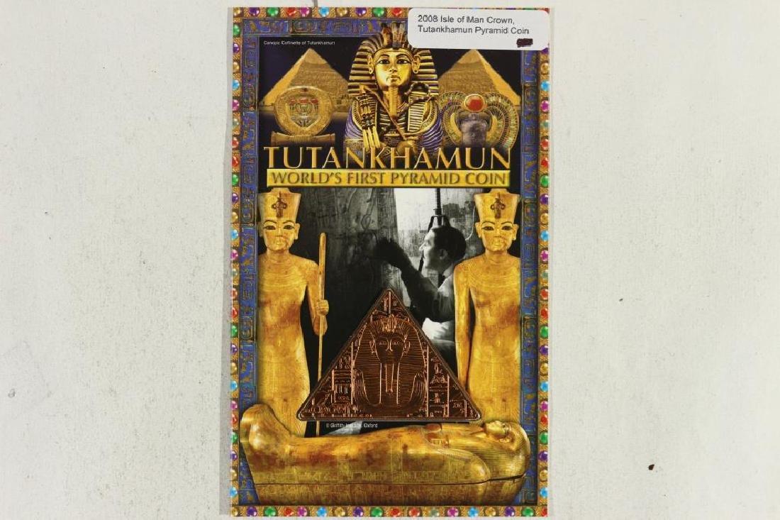 2008 ISLE OF MAN CROWN TUTANKHAMUN PYRAMID COIN