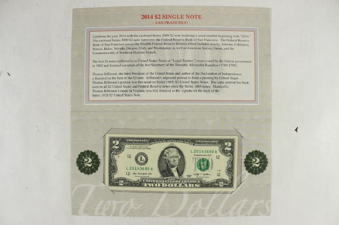2014 $2 SINGLE NOTE THIS IS A 2009 $2 FRN WITH