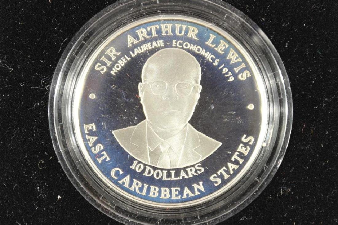 1998 EAST CARIBBEAN STATES SILVER PROOF $10