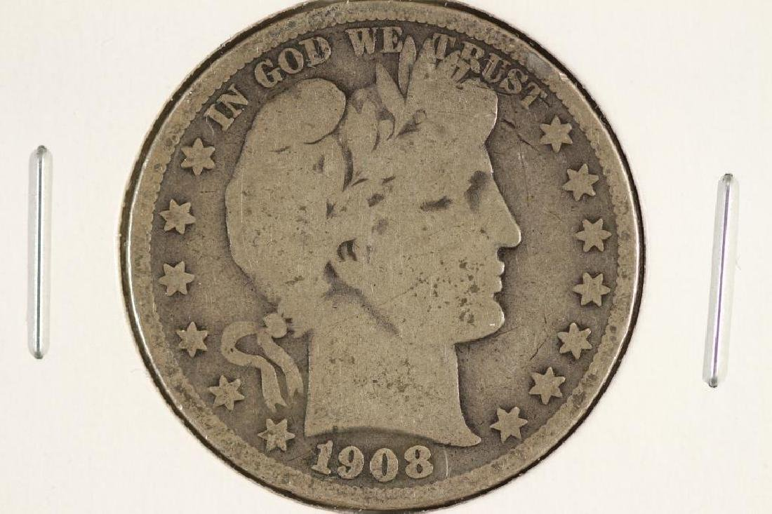 1908-S BARBER HALF DOLLAR