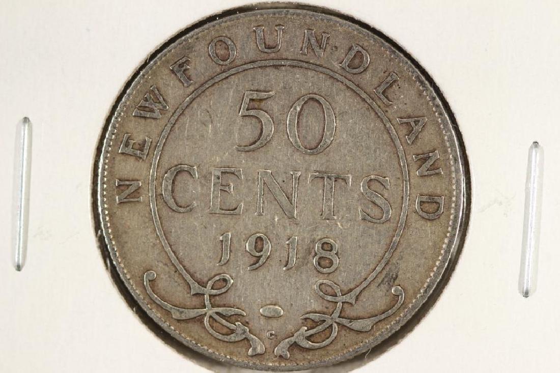 1918-C NEWFOUNDLAND SILVER 50 CENT