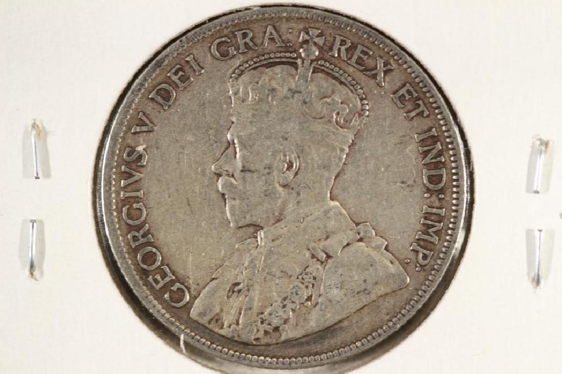 1918-C NEWFOUNDLAND SILVER 50 CENT - 2