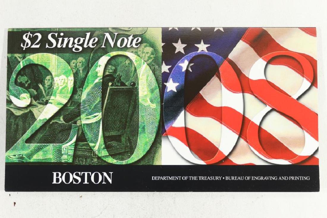 2008 BOSTON $2 SINGLE NOTE 2003 -A  $2 FRN - 2