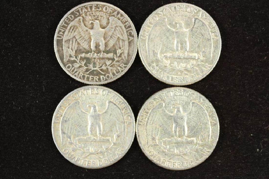 1946-D,61-D,63 & 64 WASHINGTON SILVER QUARTERS - 2