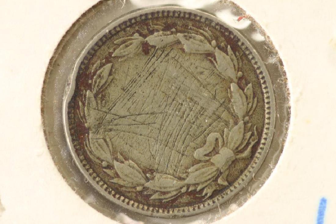 1865 THREE CENT PIECE (NICKEL) REV. SCRATCHES - 2