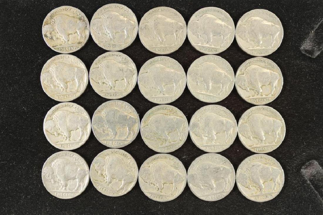 20 ASSORTED 1920'S BUFFALO NICKELS - 2