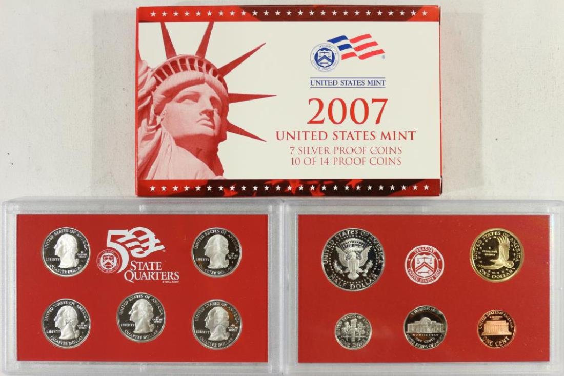 PARTIAL 2007 US SILVER PROOF SET (WITH BOX) - 2