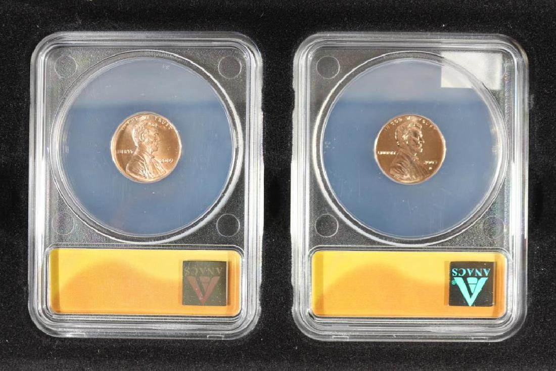 2009-P & D LOG CABIN LINCOLN CENTS ANACS MS67 - 2