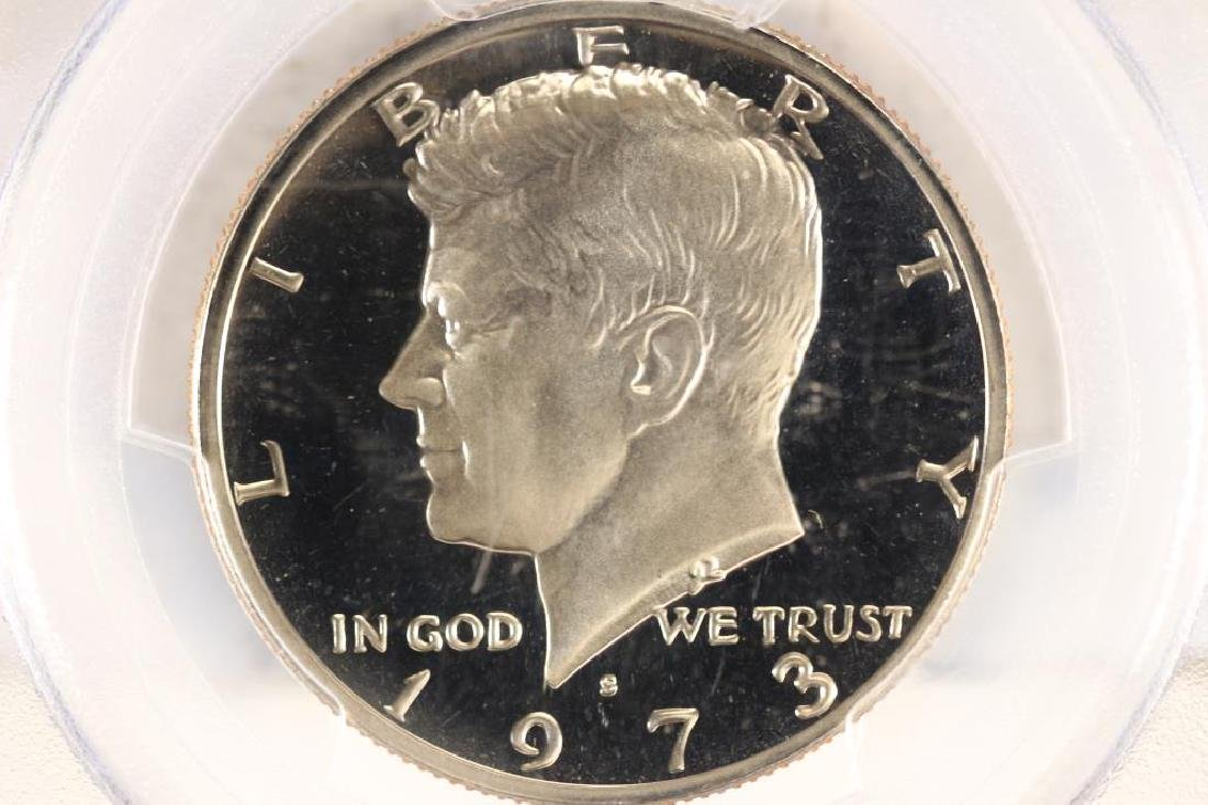 1973-S KENNEDY HALF DOLLAR PCGS PR69 DCAM