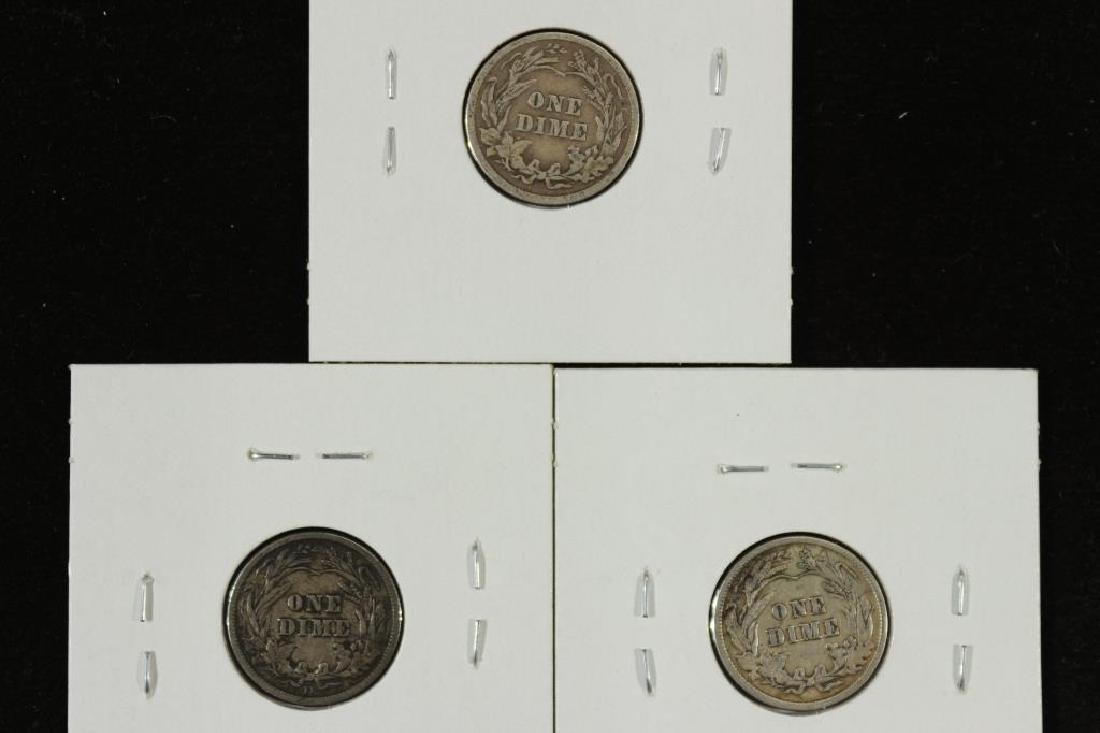 1913,14-D & 16 BARBER DIMES ALL FINES - 2