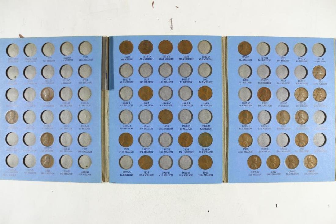 2 PARTIAL LINCOLN CENT ALBUMS 1909-1940-30 COINS