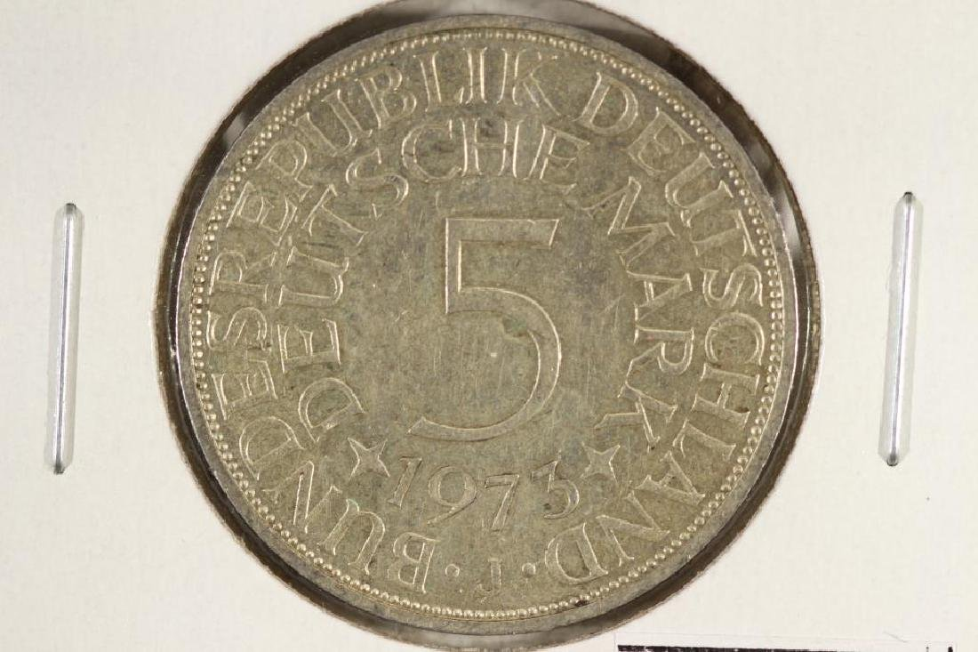1973-J GERMANY SILVER 5 MARKS