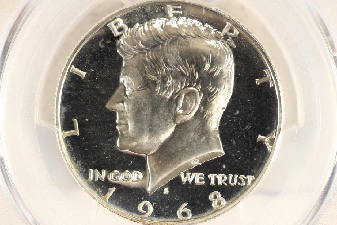 1968-S 40% SILVER JOHN F. KENNEDY HALF PCGS PR68
