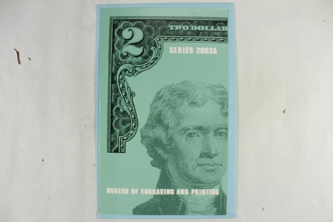 UNCUT SHEET OF 4-2003-A $2 FRN'S SAN FRANCISCO - 3