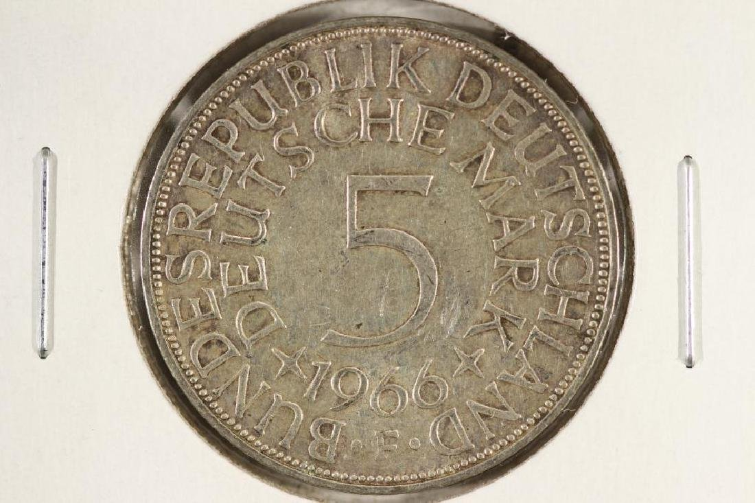 1966-F GERMANY SILVER 5 MARKS