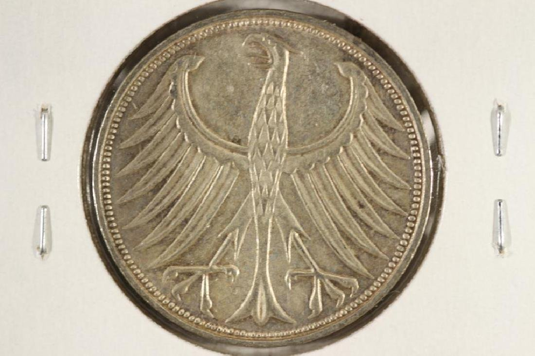 1966-F GERMANY SILVER 5 MARKS - 2