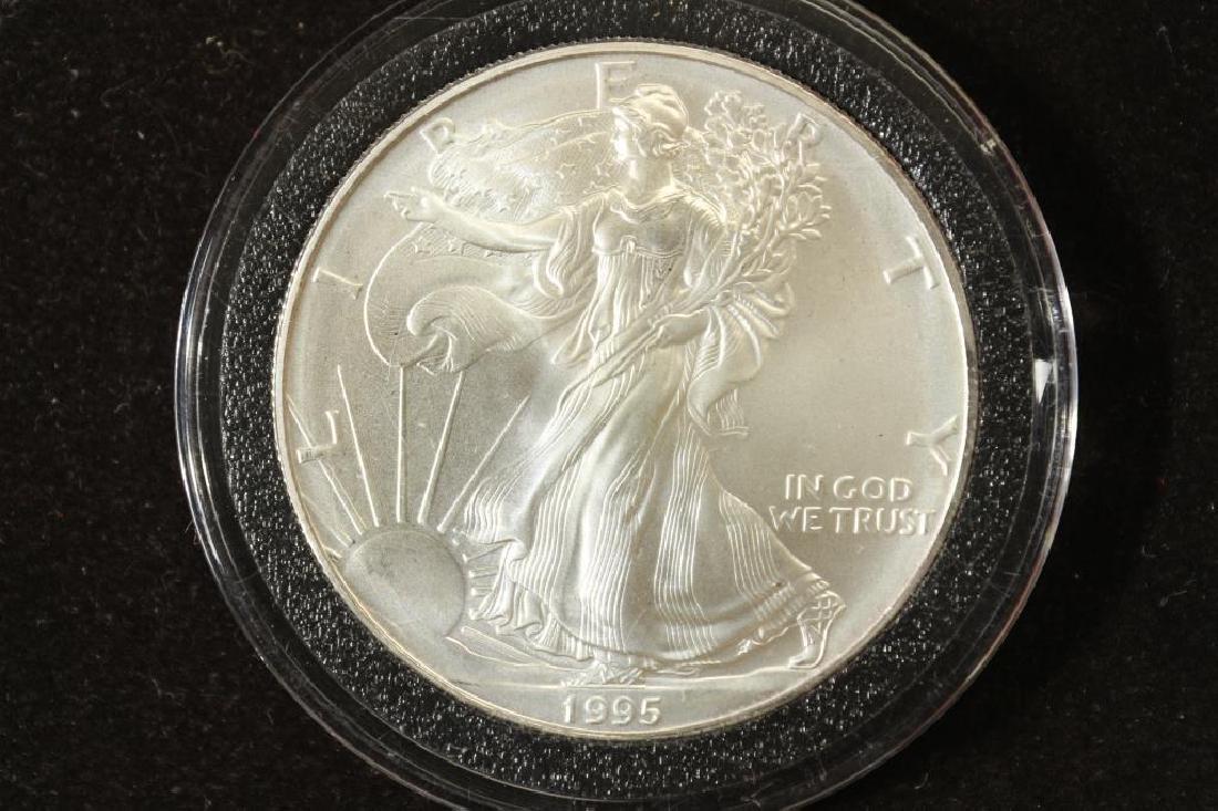1995 AMERICAN SILVER EAGLE UNC
