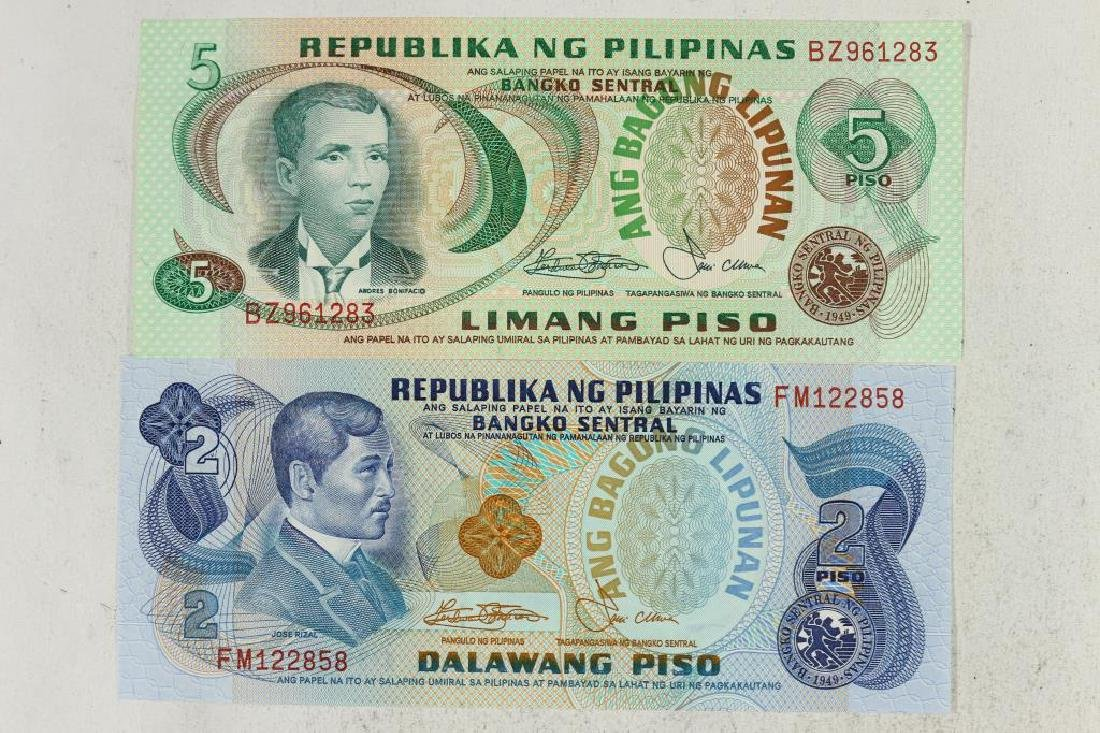 1978 PHILIPPINES 2 & 5 PISO NOTES CRISP UNC