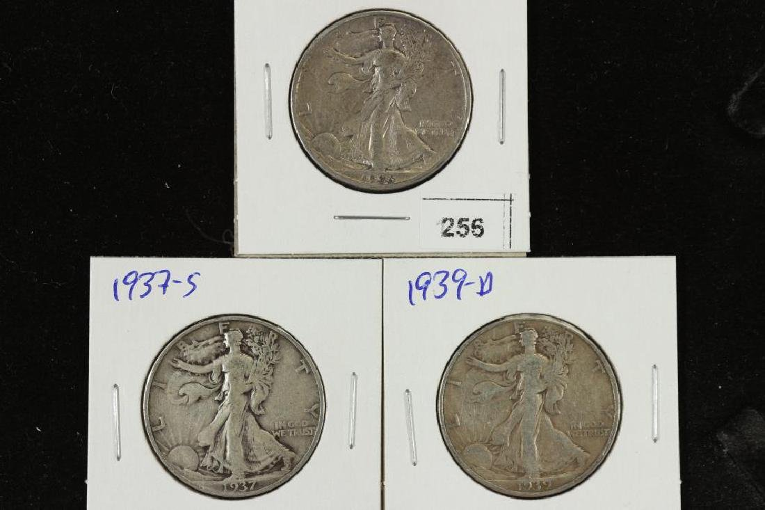 1936,37-S & 39-D WALKING LIBERTY HALF DOLLARS