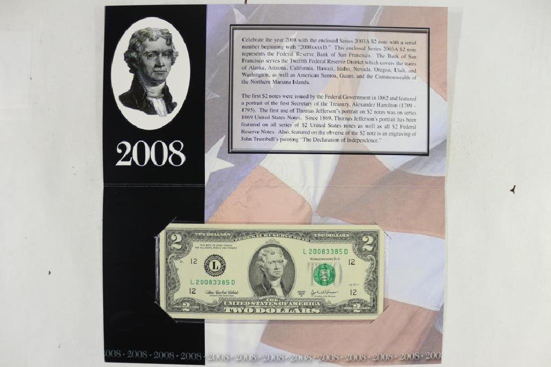 2008 SAN FRANCISCO $2 SINGLE NOTE 2003-A SERIAL