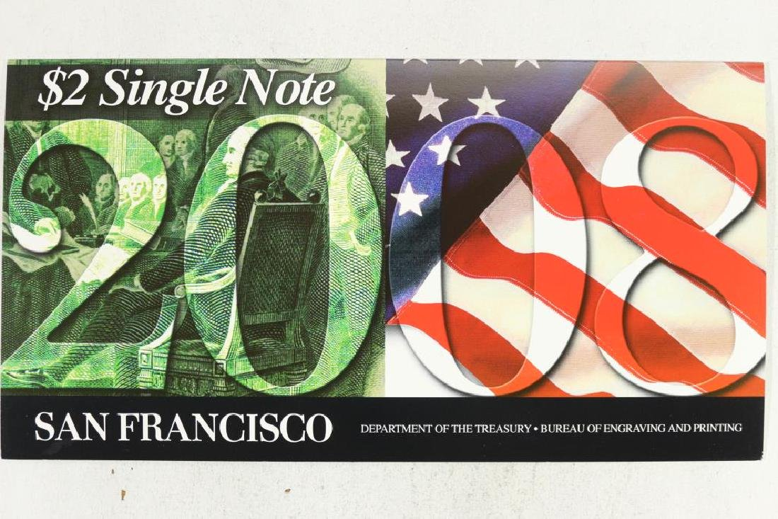 2008 SAN FRANCISCO $2 SINGLE NOTE 2003-A SERIAL - 2