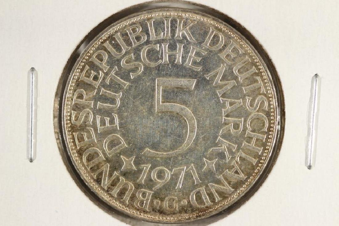 1971-G GERMANY SILVER 5 MARKS - 2
