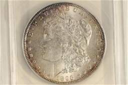 1896 MORGAN SILVER DOLLAR ANACS MS62