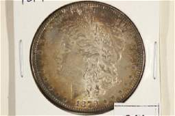 1879 MORGAN SILVER DOLLAR TONED UNC
