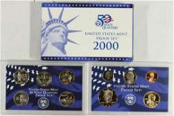 2000 US PROOF SET WITH BOX
