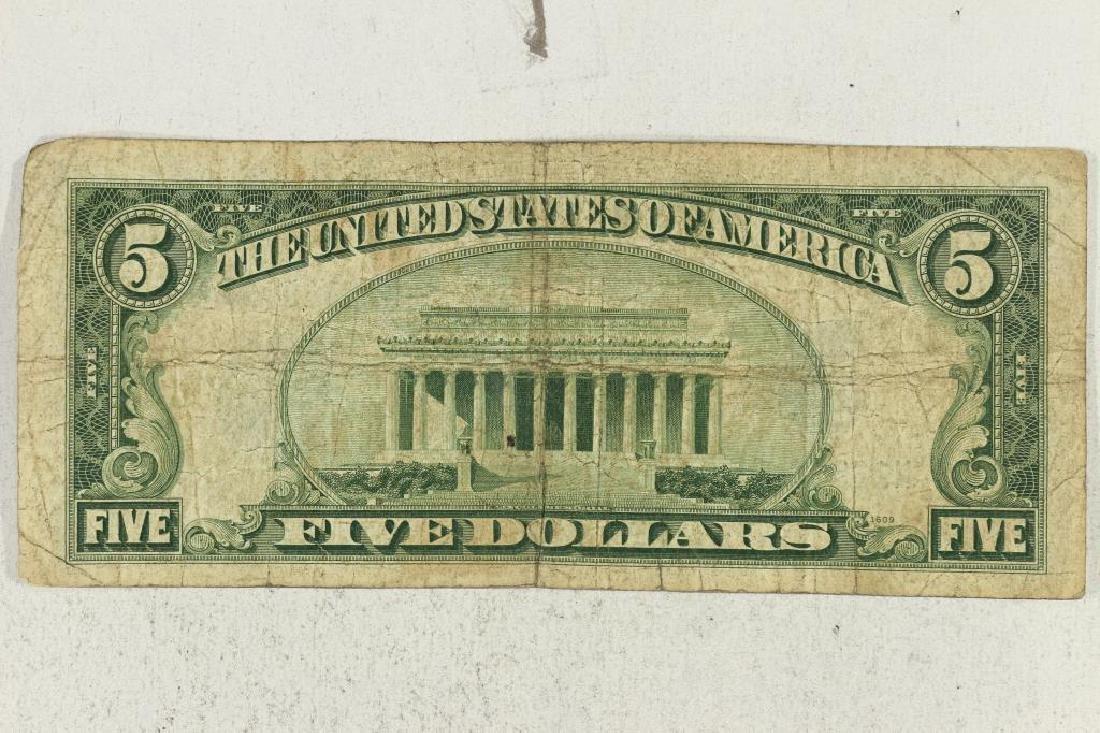 1934-C $5 SILVER CERTIFICATE BLUE SEAL - 2