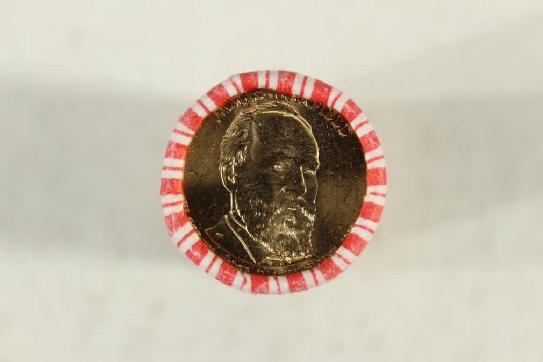$25 ROLL OF 2011 JAMES A. GARFIELD PRESIDENTIAL - 2