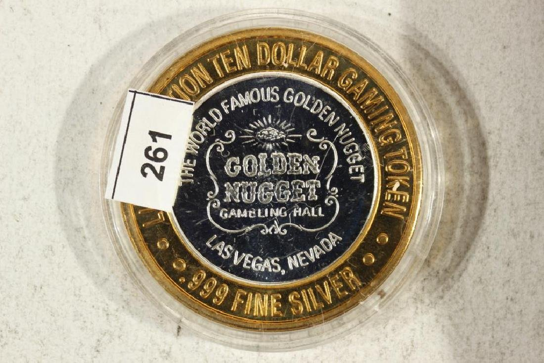 CASINO $10 SILVER TOKEN (UNC) GOLDEN NUGGET - 2