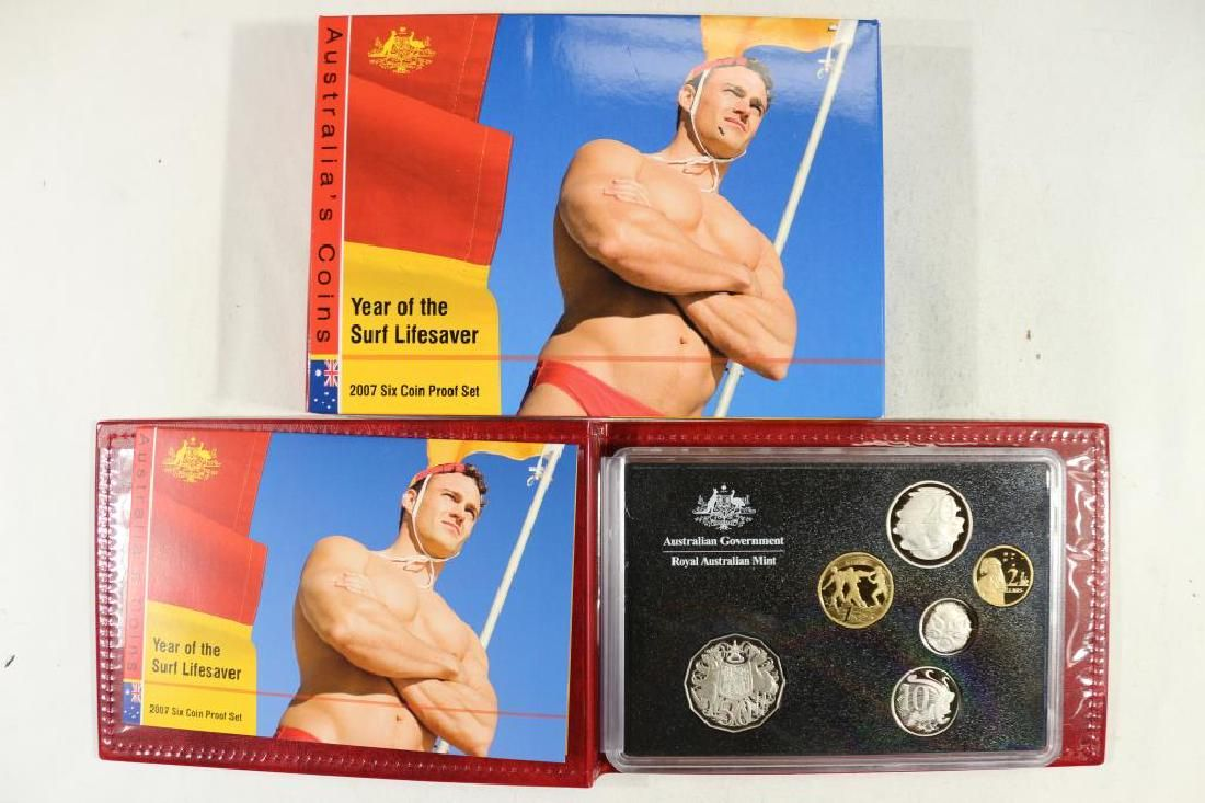 """2007 AUSTRALIA 6 COIN PROOF SET """"YEAR OF THE"""