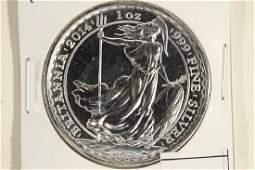 1999 GREAT BRITAIN SILVER 2 POUND BRITANNIA