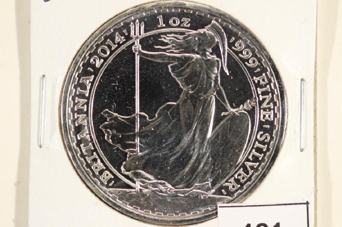 2014 GREAT BRITAIN SILVER PROOF LIKE 2 POUND