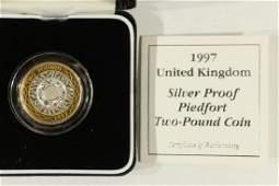 1997 UNITED KINGDOM SILVER PROOF PIEDFORT